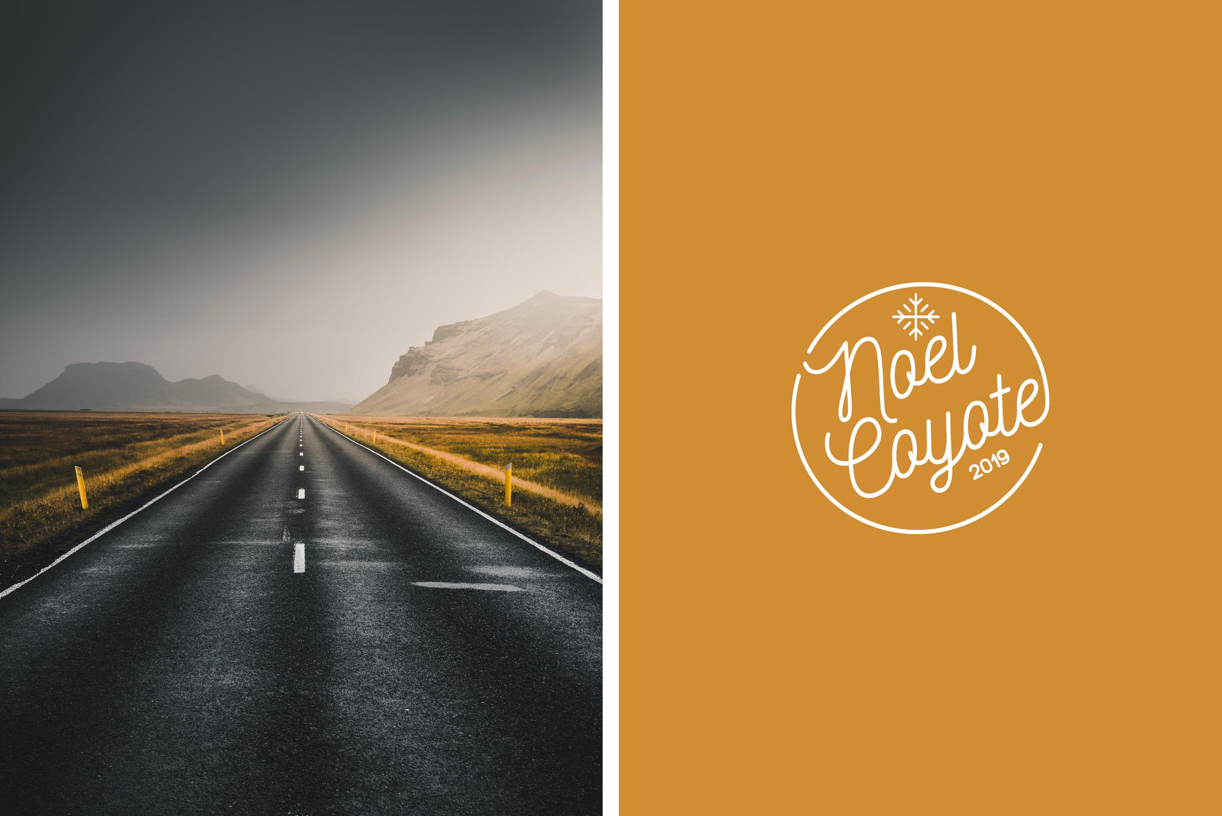 Composition d'une photo et du logo Coyote.